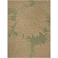 Safavieh Martha Stewart Contemporary Green / Beige Rug - 8' x 11'2