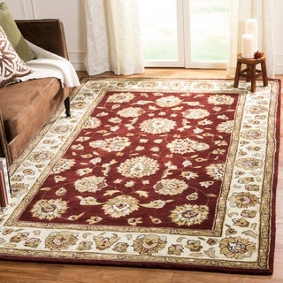 Safavieh Hand-Hooked Total Performance Traditional Burgundy / Ivory Rug (8' x 10')