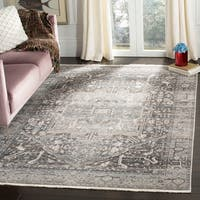 Safavieh Vintage Persian Vintage Grey / Charcoal Polyester Rug (8' x 10') - 8' x 10'