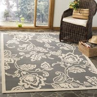 Safavieh Martha Stewart Contemporary Anthracite / Beige Rug (9' x 12') - 9' x 12'