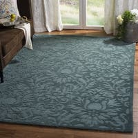 Safavieh Hand-Hooked Total Performance Traditional Grey / Blue Rug (9' x 12') - 9' x 12'