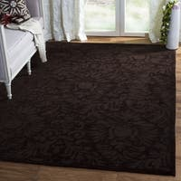 Safavieh Hand-Hooked Total Performance Traditional Chocolate Rug (9' x 12') - 9' x 12'