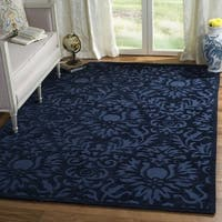Safavieh Hand-Hooked Total Performance Traditional Navy Rug (9' x 12') - 9' x 12'