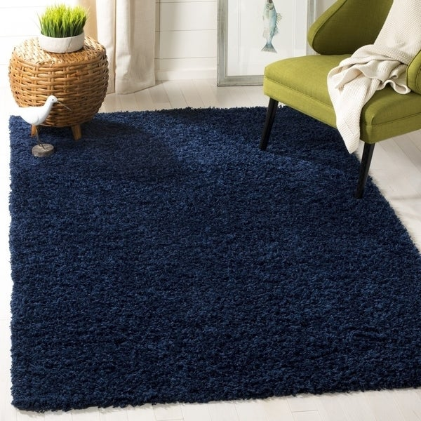 Shop Safavieh Athens Shag Navy Rug 9 X 12 On Sale