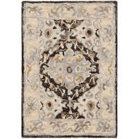 Safavieh Handmade Aspen Contemporary Beige / Brown Wool Rug - 2' X 3'
