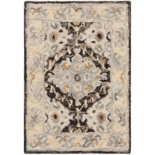 Safavieh Handmade Aspen Contemporary Beige / Brown Wool Rug (2' x 3') - 2' x 3'
