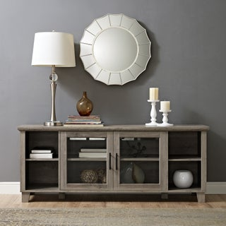 Columbus 58 Inch TV Stand with Middle Doors (Three options available) (Option: grey wash)