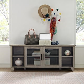Columbus 58 Inch TV Stand with Middle Doors (Three options available) (3 options available)