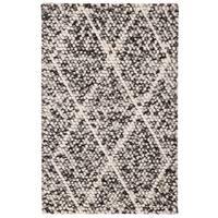 Safavieh Handmade Natura Southwestern Ivory / Black Wool Rug - 2' x 3'