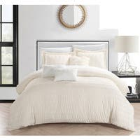 Chic Home Jayrine 10 Piece Ruched Ruffled Bed in a Bag Comforter Set