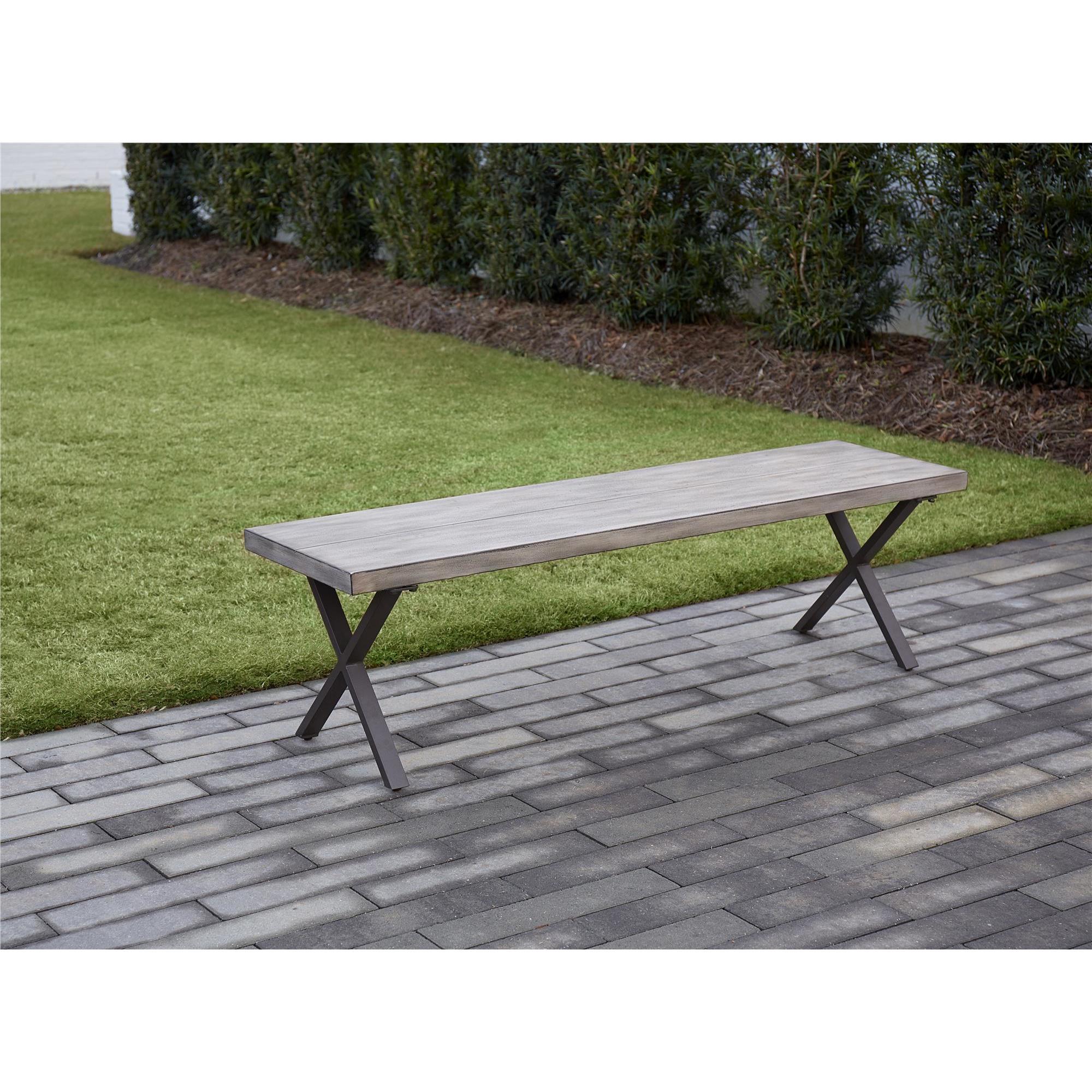 Excellent Avenue Greene Dark Brown 3 Piece Table And Bench Set Machost Co Dining Chair Design Ideas Machostcouk