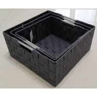 Weave 3 Piece Basket Set