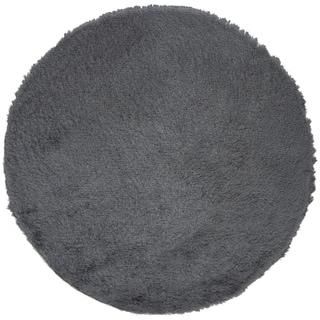 Safavieh Paris Shag Danara Glamour Solid Polyester Rug (5 x 5 Round - Slate)
