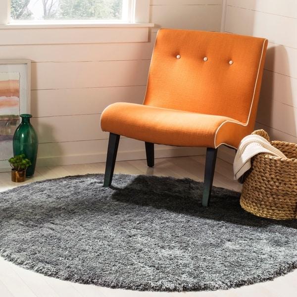 Safavieh Shag Slate Polyester Rug - 5' x 5' round