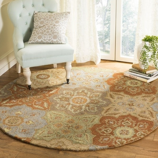 Safavieh Handmade Heritage Traditional Multi Wool Rug (6' x 6' Round) - 6' x 6' Round