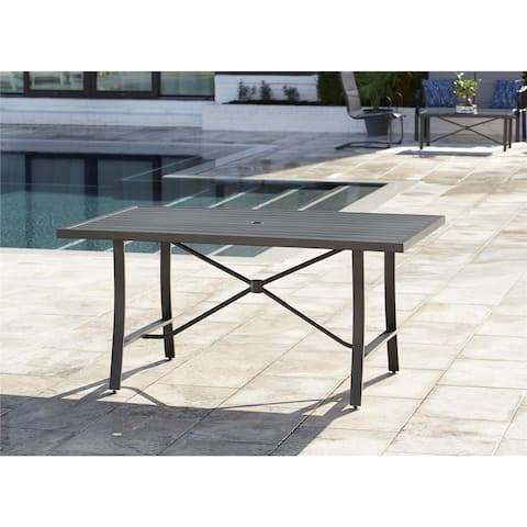 Avenue Greene Charcoal Grey Tool-Free Dining Table