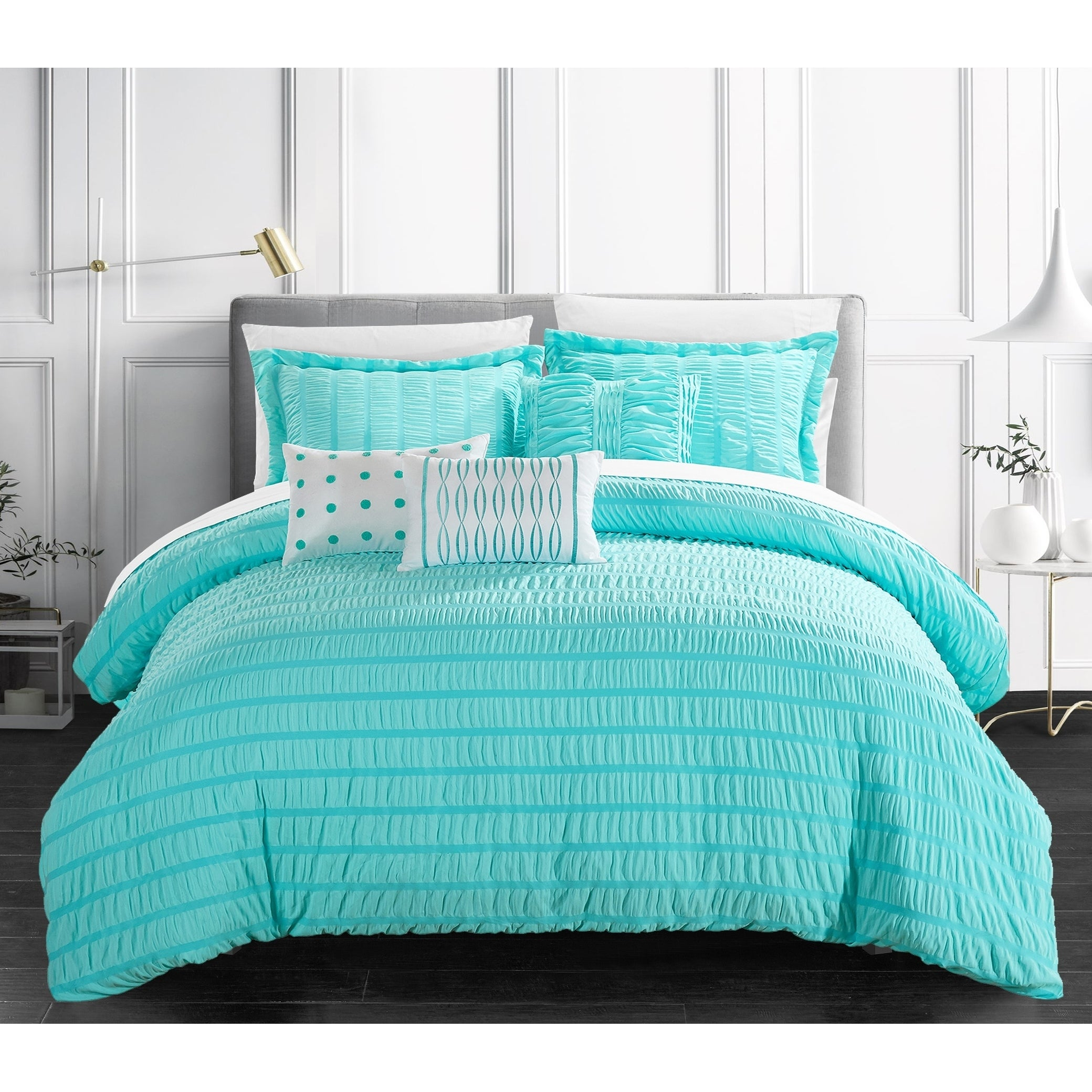 Jayrine 10 Piece Ruched Ruffled Bed