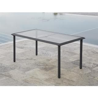 Avenue Greene Grey Outdoor Woven Wicker Dining Table
