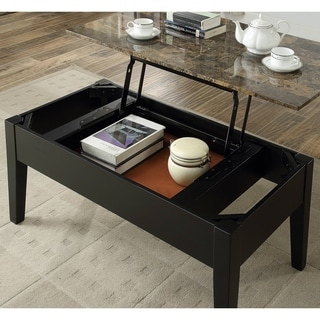 Nice Acme Celestial Faux Marble Lift Top Coffee Table In Black
