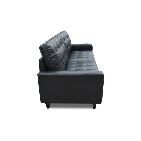 Strange Shop Acme Adley Memory Foam Sofa In Black Leather Gel Free Gmtry Best Dining Table And Chair Ideas Images Gmtryco