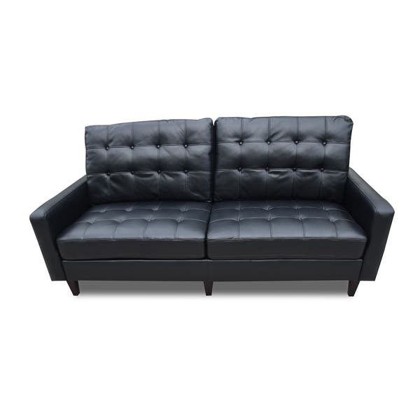 Magnificent Shop Acme Adley Memory Foam Sofa In Black Leather Gel Free Gmtry Best Dining Table And Chair Ideas Images Gmtryco