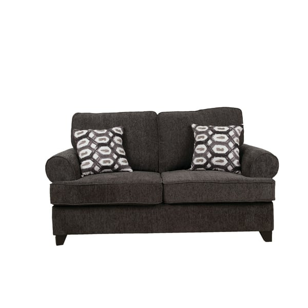 Fabulous Shop Acme Alessia Loveseat Sleeper With 2 Pillows In Dark Pabps2019 Chair Design Images Pabps2019Com