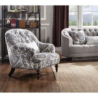 Shop Ikat Slate Fabric Accent Chair On Sale Free