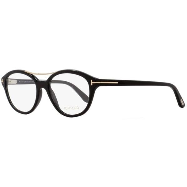 Shop Tom Ford TF5412 001 Unisex Black Gold 52 mm Eyeglasses - Free ... 6cff04194370