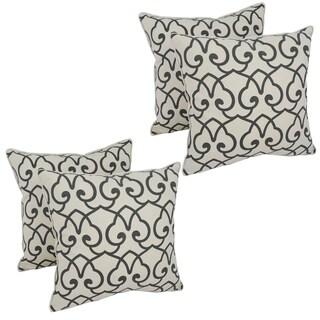 Black Lattice 17-Inch Accent Throw Pillow (Set of 4)