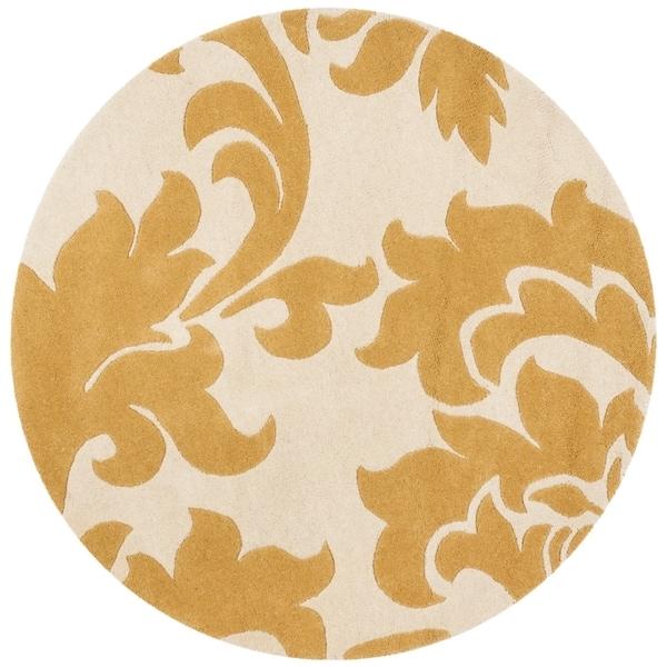 Safavieh Handmade Martha Stewart Contemporary Cornucopia Wool Rug (4' x 4' Round) - 4' x 4' Round