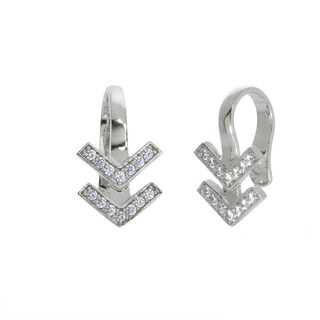 Eternally Haute Pave Chevron Ear Cuff
