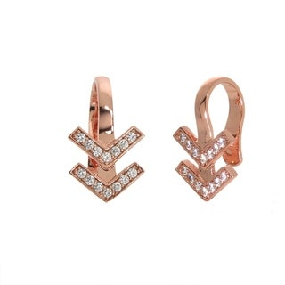 Eternally Haute 14k Rose Gold Pave Chevron Ear Cuff