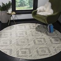 """Safavieh Skyler Contemporary Ivory / Grey Rug (6'7' x 6'7' Round) - 6'-7"""" x 6'-7"""" round"""