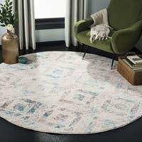 """Safavieh Skyler Contemporary Ivory / Blue Rug (6'7' x 6'7' Round) - 6'-7"""" x 6'-7"""" round"""