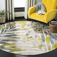 "Safavieh Skyler Contemporary Grey / Green Rug (6'7' x 6'7' Round) - 6'-7"" x 6'-7"" round"