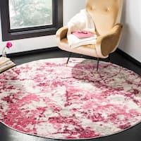 Safavieh Skyler Contemporary Pink / Ivory Rug - 6'7 Round