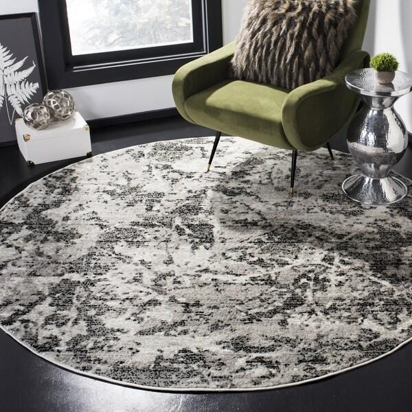 Safavieh Skyler Contemporary Charcoal / Ivory Rug (6'7' x 6'7' Round)