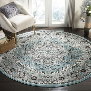 Safavieh Skyler Contemporary Blue / Ivory Rug (6'7' x 6'7' Round)