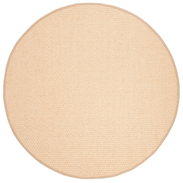 Safavieh Natural Fiber Contemporary Natural / Beige Seagrass Rug - 6' Round