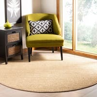 Safavieh Natural Fiber Contemporary Ivory / Beige Seagrass Rug - 6' Round
