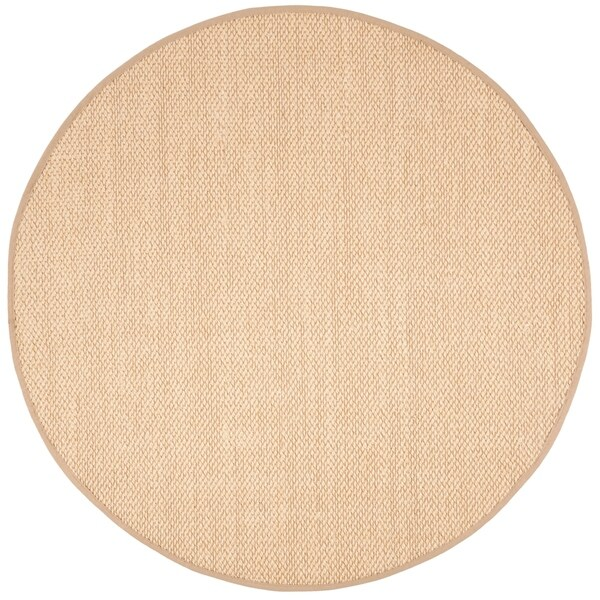 Safavieh Natural Fiber Contemporary Ivory / Beige Seagrass Rug (6' x 6' Round)