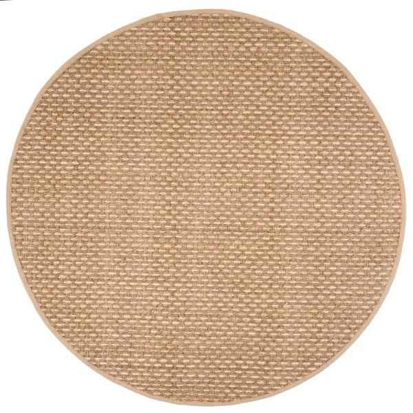Safavieh Natural Fiber Contemporary Natural / Beige Seagrass Rug - 6' Round