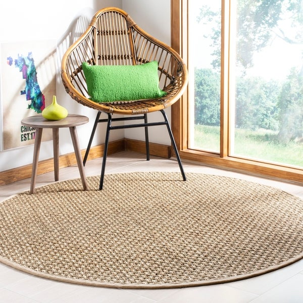 Safavieh Natural Fiber Contemporary Natural / Beige Seagrass Rug - 6' x 6' Round