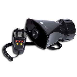 Zone Tech 80W Emergency Sounds Electric Horn-Hooter/Fire Alarm/ Ambulance/ Siren/Traffic Sound with PA Microphone System