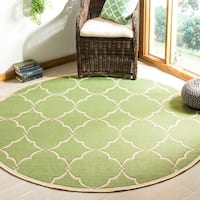 Safavieh Linden Contemporary Olive / Cream Rug - 6'7 Round