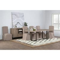 Norton Reclaimed Pine 83 inch Dining Table by Kosas Home - Taupe - 30h x 83w x 36d