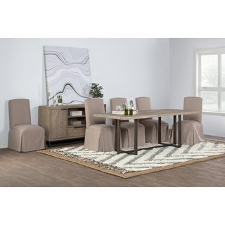 Norton Reclaimed Pine 83 inch Dining Table by Kosas Home - Taupe