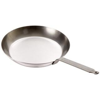 Matfer Bourgeat Black Steel Round Frying Pan, 11 7/8-Inch, Gray