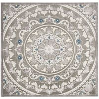 "Safavieh Paradise Contemporary Grey / Light Grey Viscose Rug (6'7' x 6'7' Square) - 6'-7"" x 6'-7"" square"