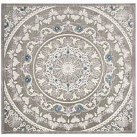 Safavieh Paradise Contemporary Grey / Light Grey Viscose Rug (6'7' x 6'7' Square)
